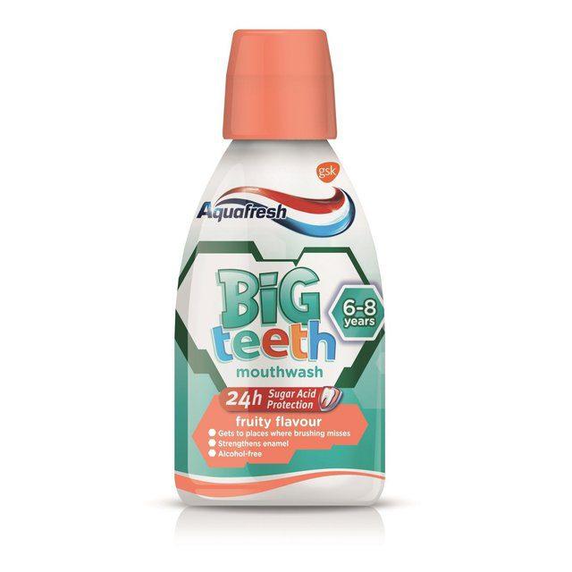 Aquafresh Big Teeth 6-8 Years Fruity Flavour Kids Mouthwash